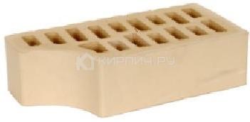 Кирпич для фасада слоновая кость одинарный гладкий фасонный внут.угол М-150 БКЗ