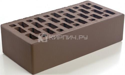 Кирпич облицовочный светло-коричневый одинарный гладкий М-150 Браер