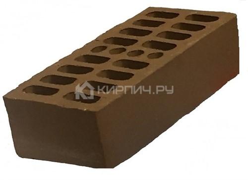 Кирпич облицовочный темный шоколад одинарный гладкий М-150 Кострома