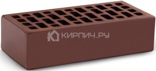 Кирпич облицовочный темный шоколад одинарный гладкий М-150 КС-Керамик