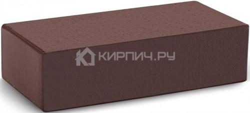 Кирпич облицовочный темный шоколад гладкий полнотелый М-300 КС-Керамик