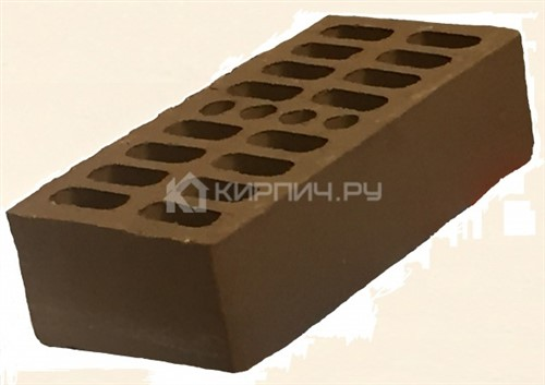 Кирпич для фасада темный шоколад полуторный гладкий М-150 Кострома