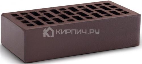 Кирпич облицовочный темный шоколад полуторный гладкий М-150 КС-Керамик