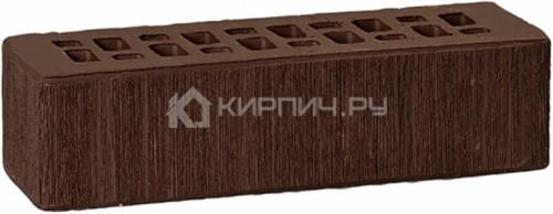 Кирпич облицовочный темно-коричневый евро бархат М-175 ГКЗ