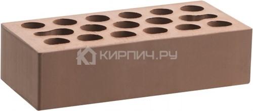 Кирпич одинарный терракот светлый гладкий М-150 Керма