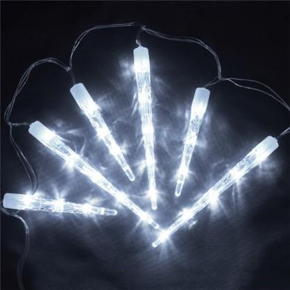 Светодиодная гирлянда Сосульки для улицы 40 ламп 2 м цвет холодный белый цена