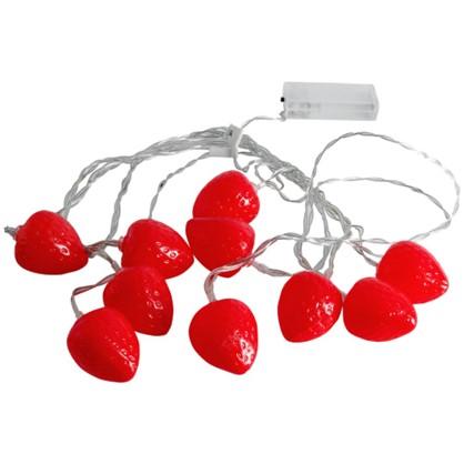 Гирлянда светодиодная Uniel Клубника на батарейках 4 м цвет красный цена