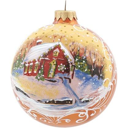 Шар Елочный Рождественское Утро 10 См Стекло цена