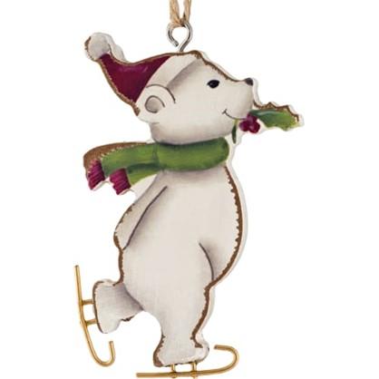 Украшение Елочное Erichkrause Decor Мишка На Коньках 13 См Дерево Цвет Прозрачный цена