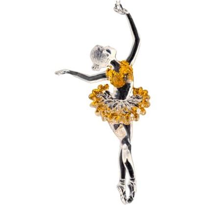 Украшение Елочное Erichkrause Decor Принцесса Балета 16 См Пластик Цвет Желтый
