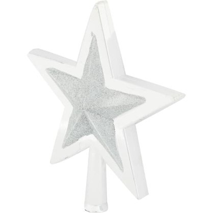 Верхушка Для Елки Звезда 25.5 См Цвет Серебро цена