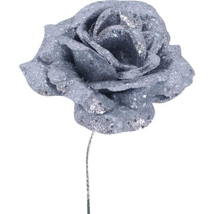Елочное Украшение Цветок 15 См Цвет Серебристый цена